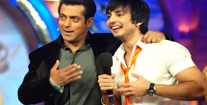 Himansh Kohli with Salman Khan