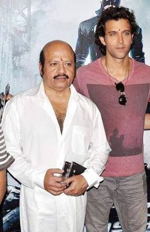 Hrithik Roshan with his uncle Rajesh Roshan