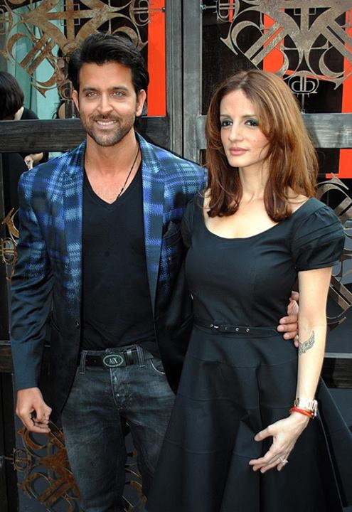 Hrithik Roshan with wife Sussanne Khan