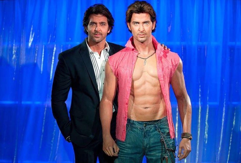 Hrithik with his wax statue