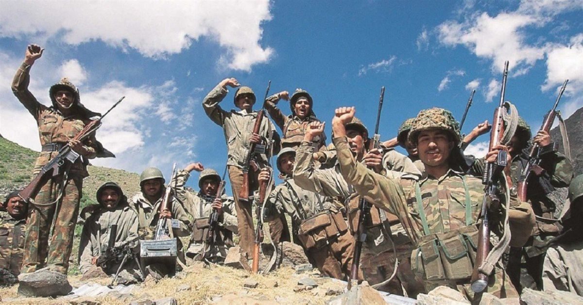 Indian army after triumph in Kargil war