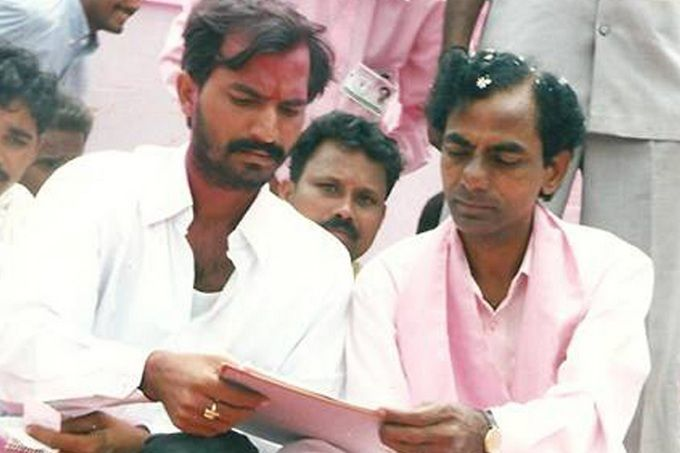 KCR during Telangana State formation day