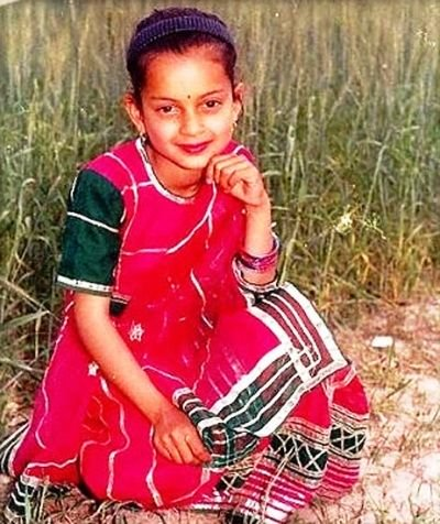 Kangana Ranaut's Childhood Picture