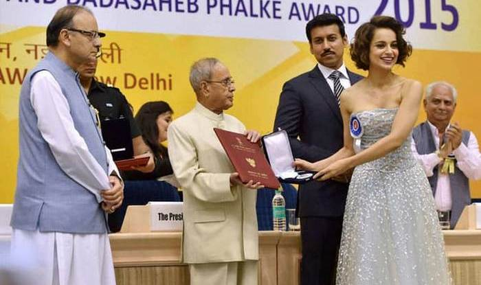 Kangana Ranaut Receiving National Film award