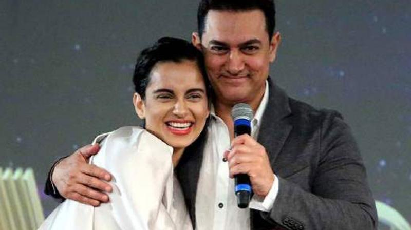 Kangana Ranaut with Aamir Khan