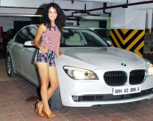 Kangana Ranaut with her car