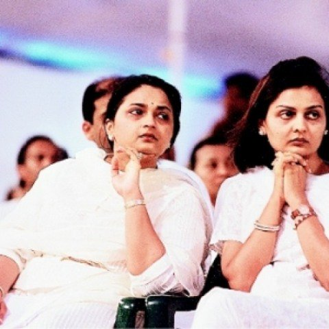 Kokilaben Ambani's daughters Nina (right) and Deepti (left)