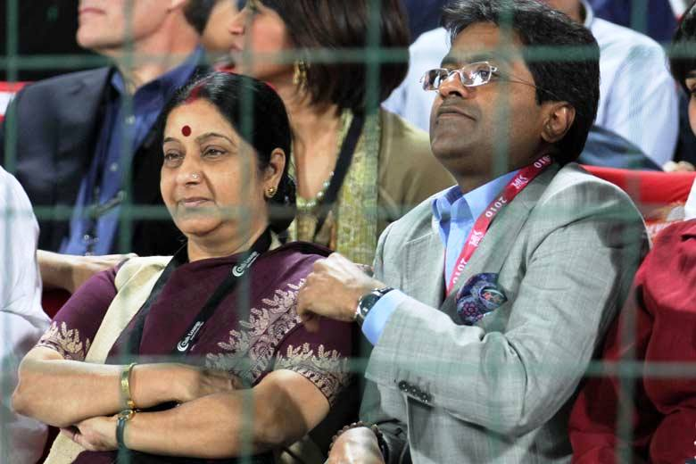 Lalit Modi and Sushma Swaraj