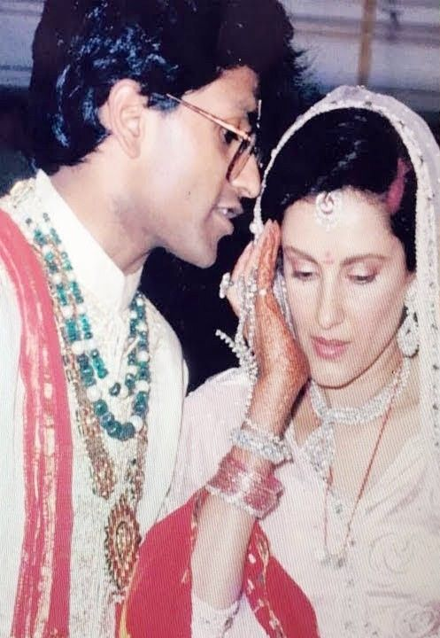 Minal Modi and Lalit Modi's marriage photo
