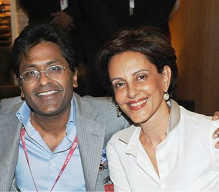 Minal Modi with her husband Lalit Modi