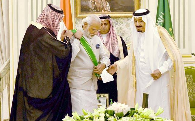 Modi conferred highest civilian award in Saudi Arabia
