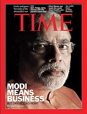 Modi on Time mazagine cover