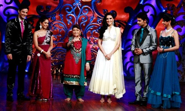 Mohit Malhotra on the set of 'Nachle Ve with Saroj Khan'