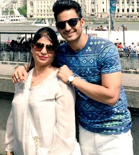 Mohit Malhotra with his mother Anju Malhotra