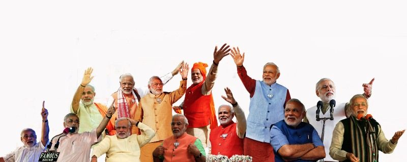 Narendra Modi in different attires
