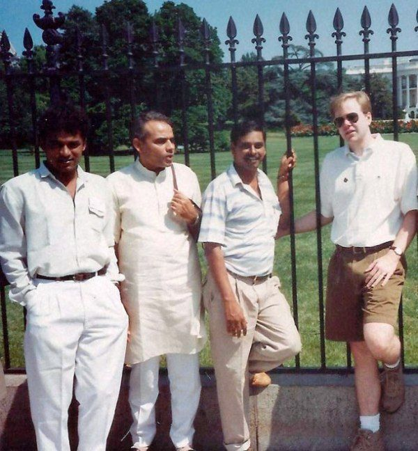 Narendra Modi outside White House
