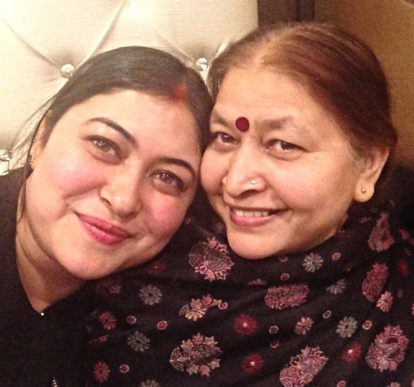 Ragini Nayak and her mother