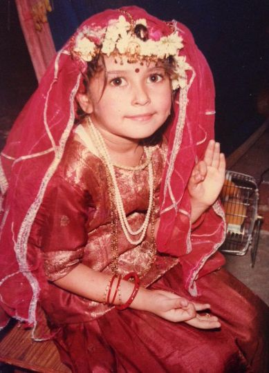 Ragini Nayak as a child