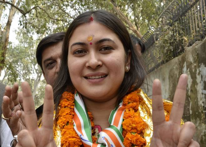 Ragini Nayak as the Congress candidate