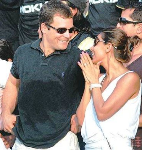 Rahul gandhi with his girlfriend Veronique Cartelli