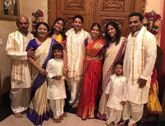 Raja Kumari with her family
