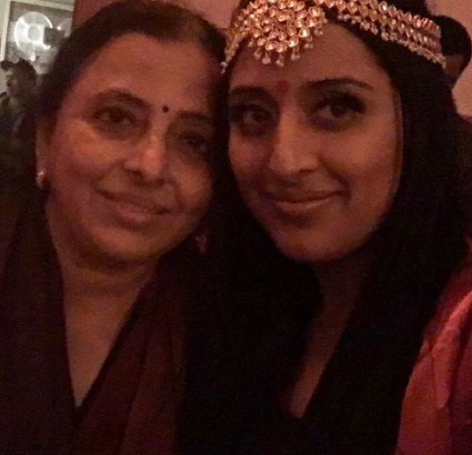 Raja Kumari with her mother