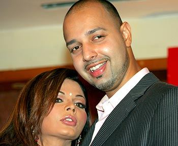 Rakhi Sawant with Elesh Parujanwala