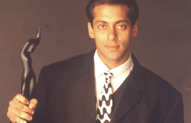 Salman Khan With Filmfare Award