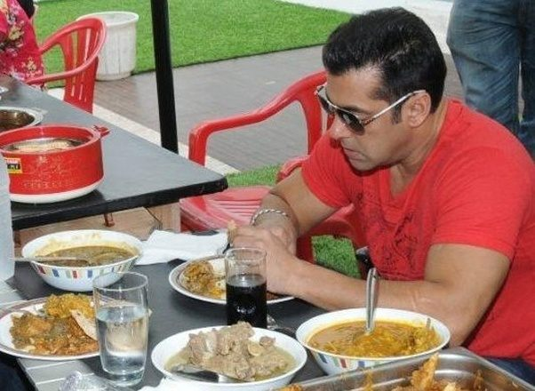 Salman Khan enjoying food