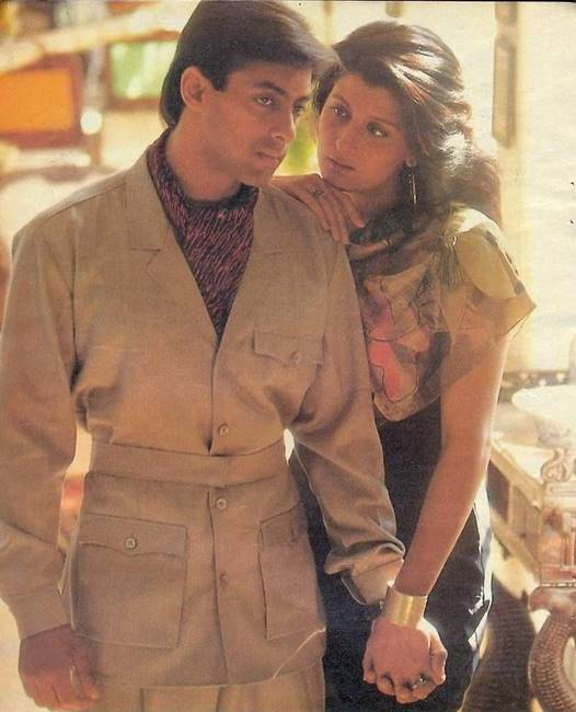 Salman Khan with actress Sangeeta Bijlani