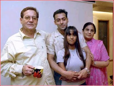 Salman Khan with his parents and sister Arpita