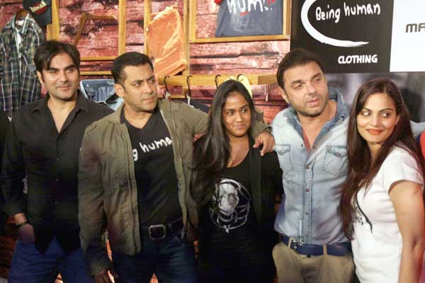 Salman Khan's with his siblings