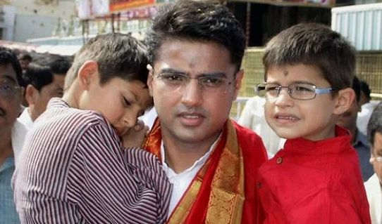 Sarah Pilot's husband Sachin Pilot and their children