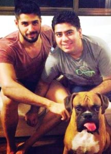 Sidharth Malhotra with his -dog