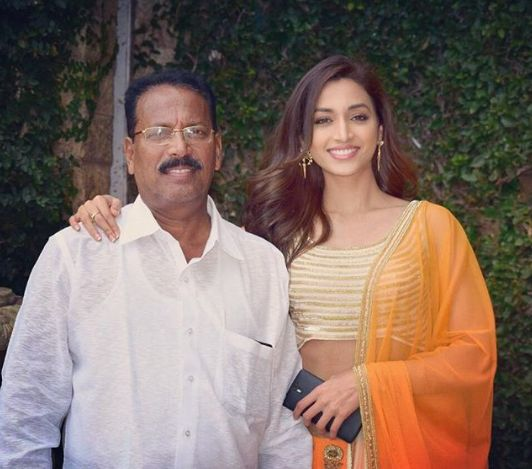 Srinidhi with her father Ramesh Shetty