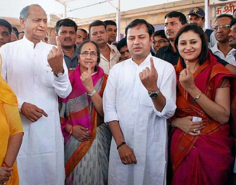 Sunita Gehlot With Her Husband And Son
