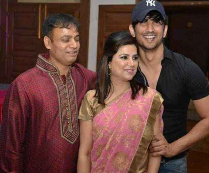 Sushant Singh Rajput With His Brother-in-law Om Prakash Singh and Sister