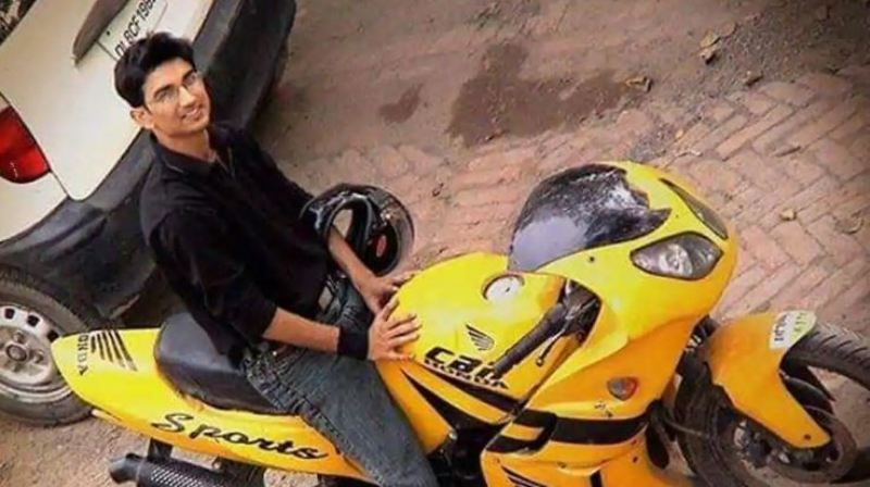Sushant Singh Rajput With His First Bike