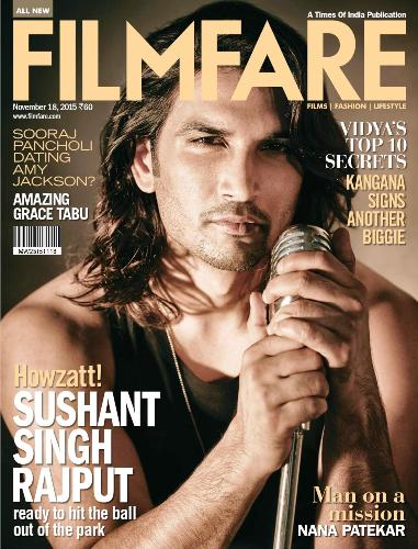 Sushant Singh Rajput on the cover of the Filmfare Magazine