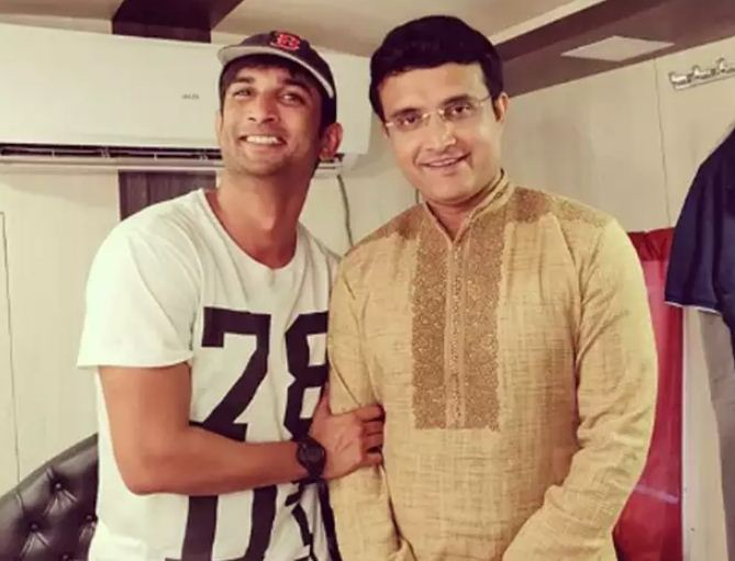 Sushant Singh Rajput with Sourav Ganguly