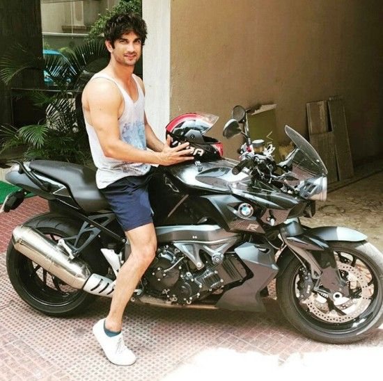 Sushant Singh Rajput with his BMW bike