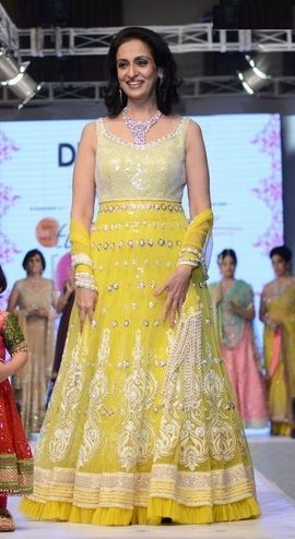 Swaroop Sampat during ramp walk
