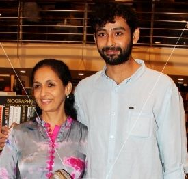 Swaroop Sampat with her elder son Aniruddh Rawal