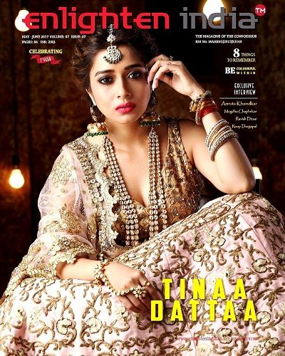 Tina Datta on the Enlighten India Magazine cover