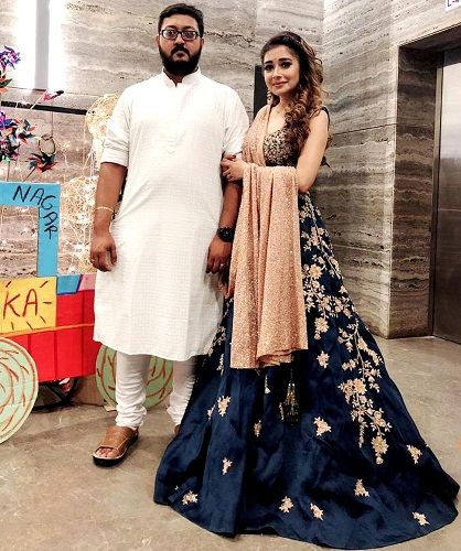 Tina Datta with her brother Debraj Datta