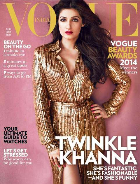 Twinkle Khanna on Vogue cover