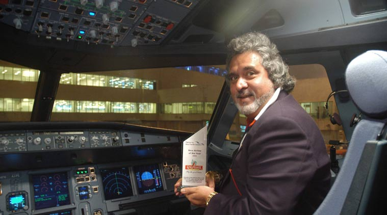 Vijay Mallya in his Kingfisher airlines