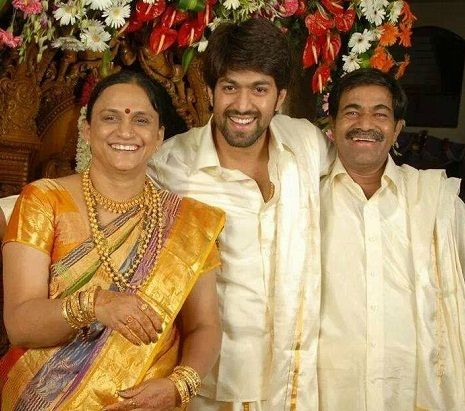 Yash with his parents