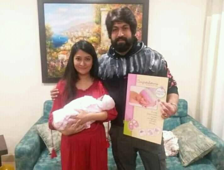 Yash with his wife and newly born daughter