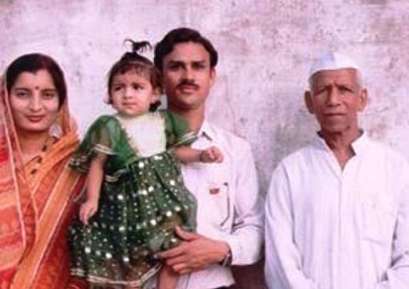 A Childhood Picture of Anveshi Jain with Her Family